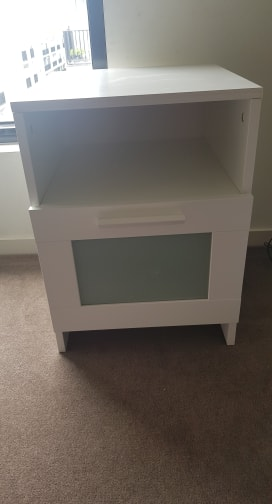 IKEA BRIMNES Bedside table, white