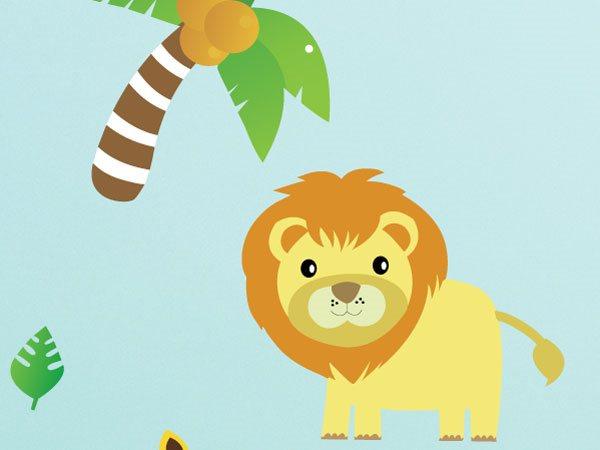 Jungle Animals Wall Stickers