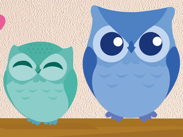 Owl Family Wall Stickers