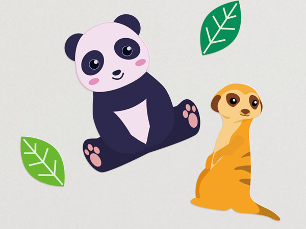 Zoo Animals Wall Stickers