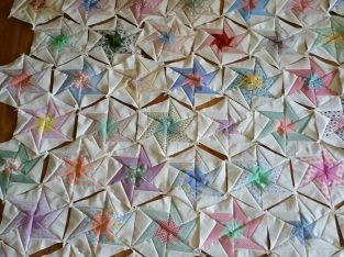 Swirling star Quilt Blocks