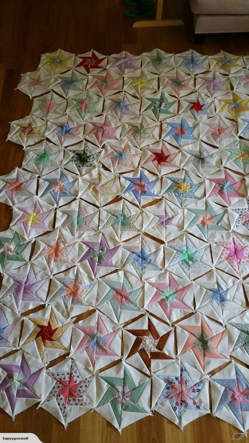 Swirling star Quilt Blocks