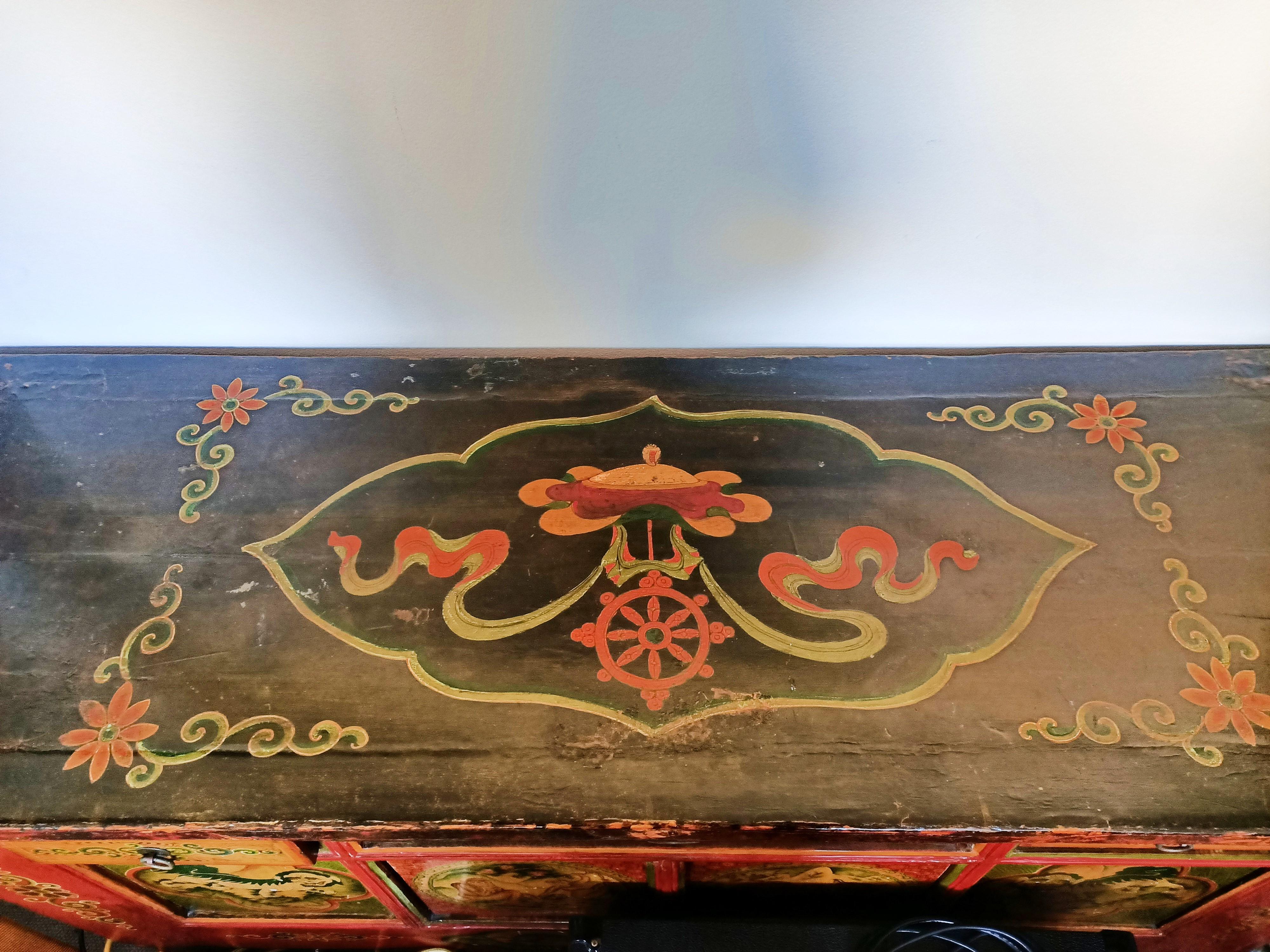 Antique Tibetan Cupboard