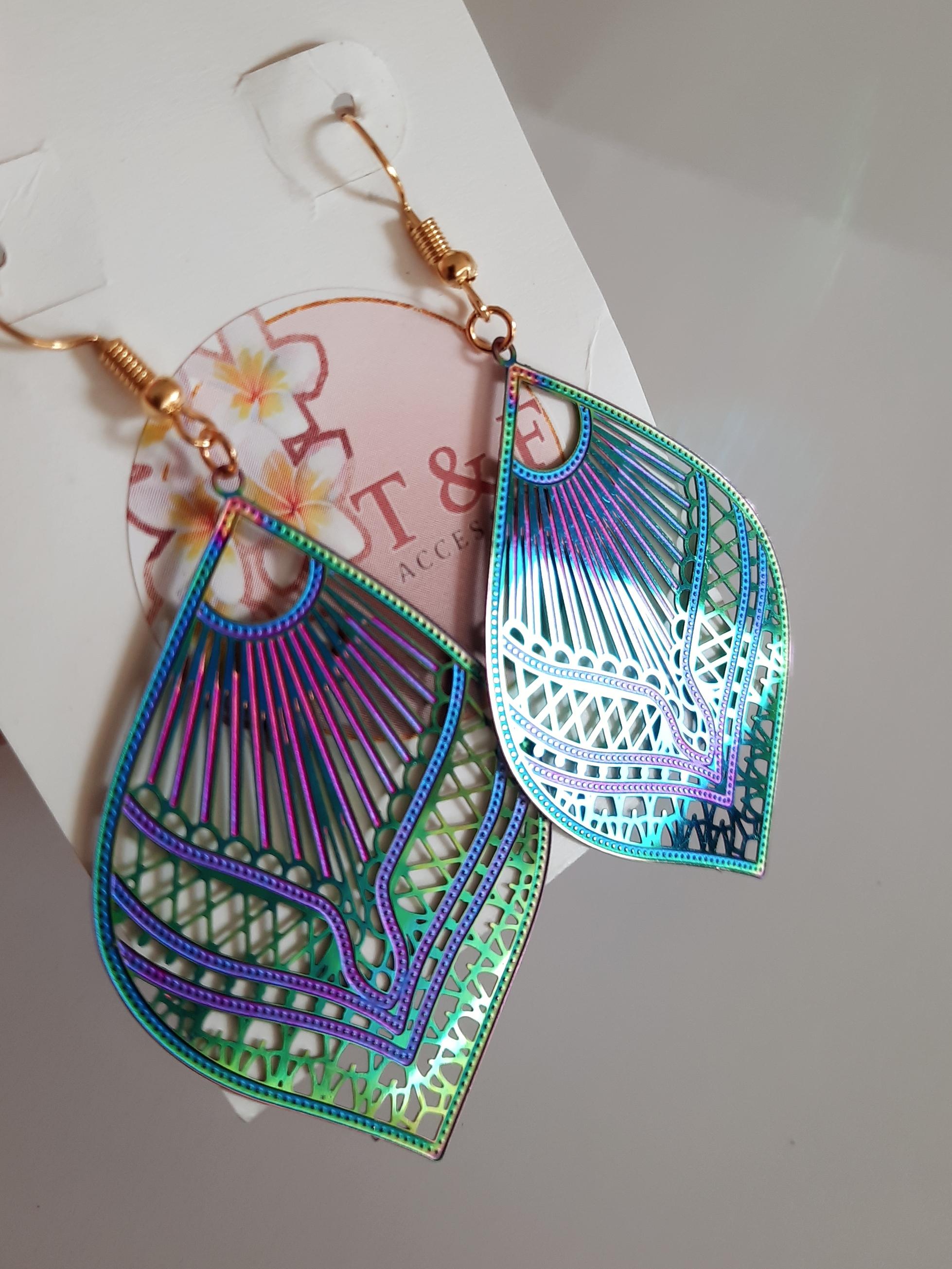 tear-drop tropical earrings