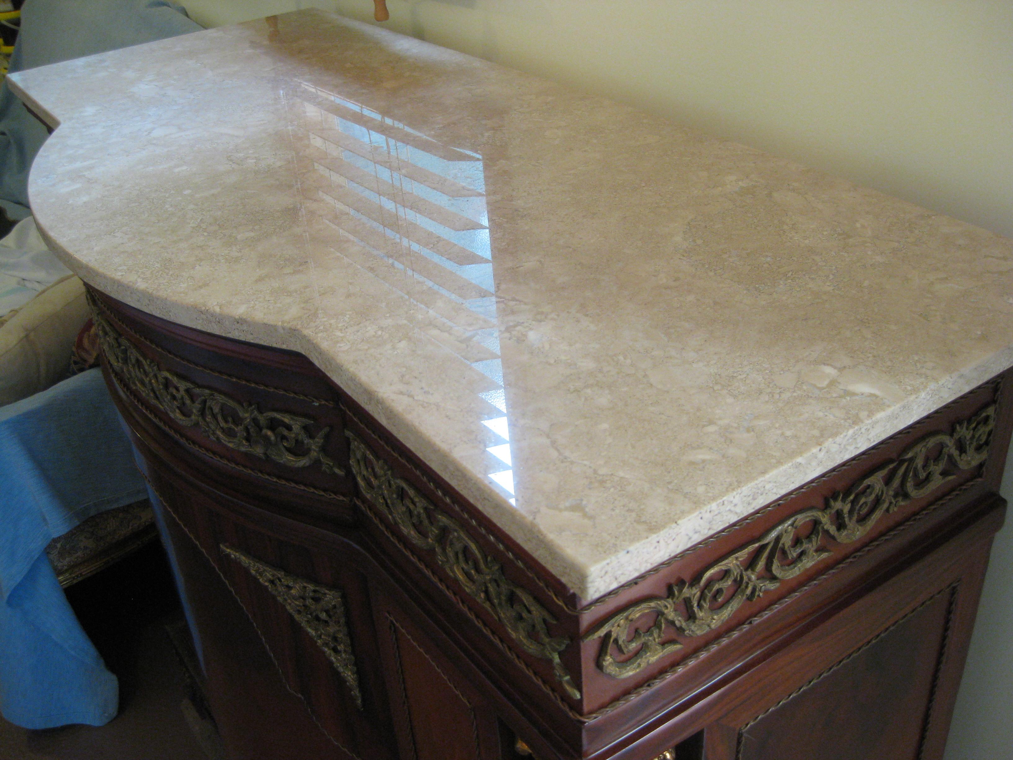 Antique Style-Majestic-French Marble Hallway Unit, Wonderful SideBoard Cabinet.