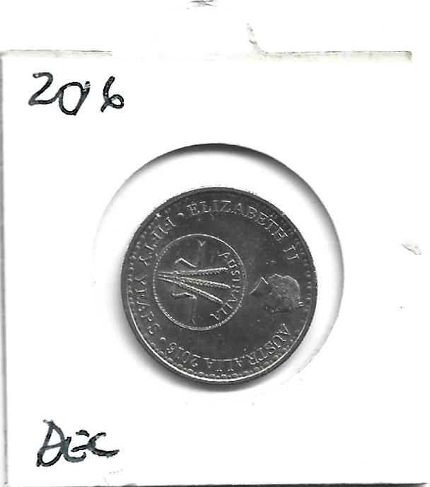 Australia 2016 50 Years of Decimal Currency 10 Cent Coin Circulated