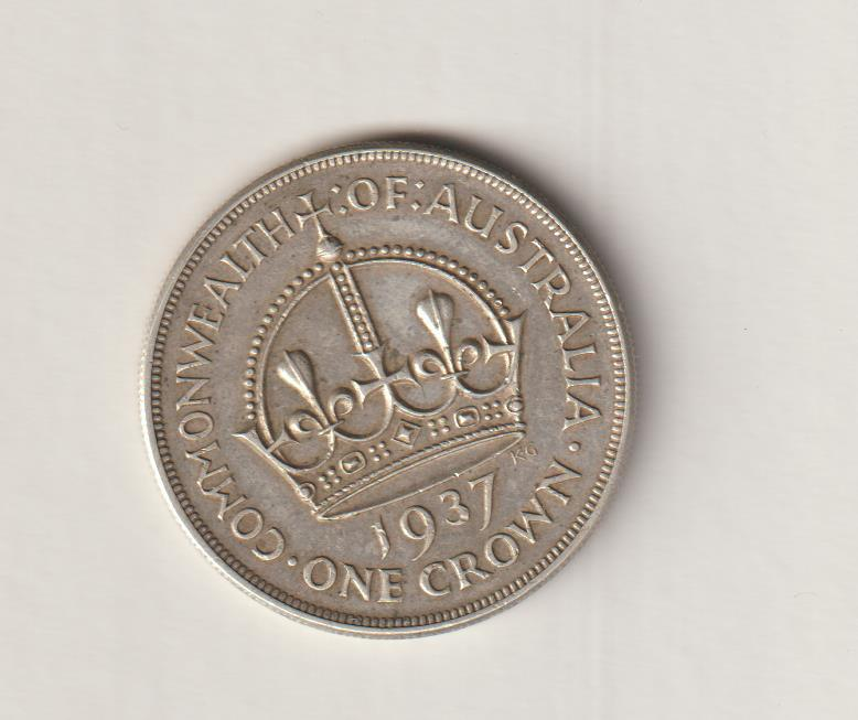 AUSTRALIAN 1937 SILVER CROWN (FIVE SHILLINGS). KING GEORGE V