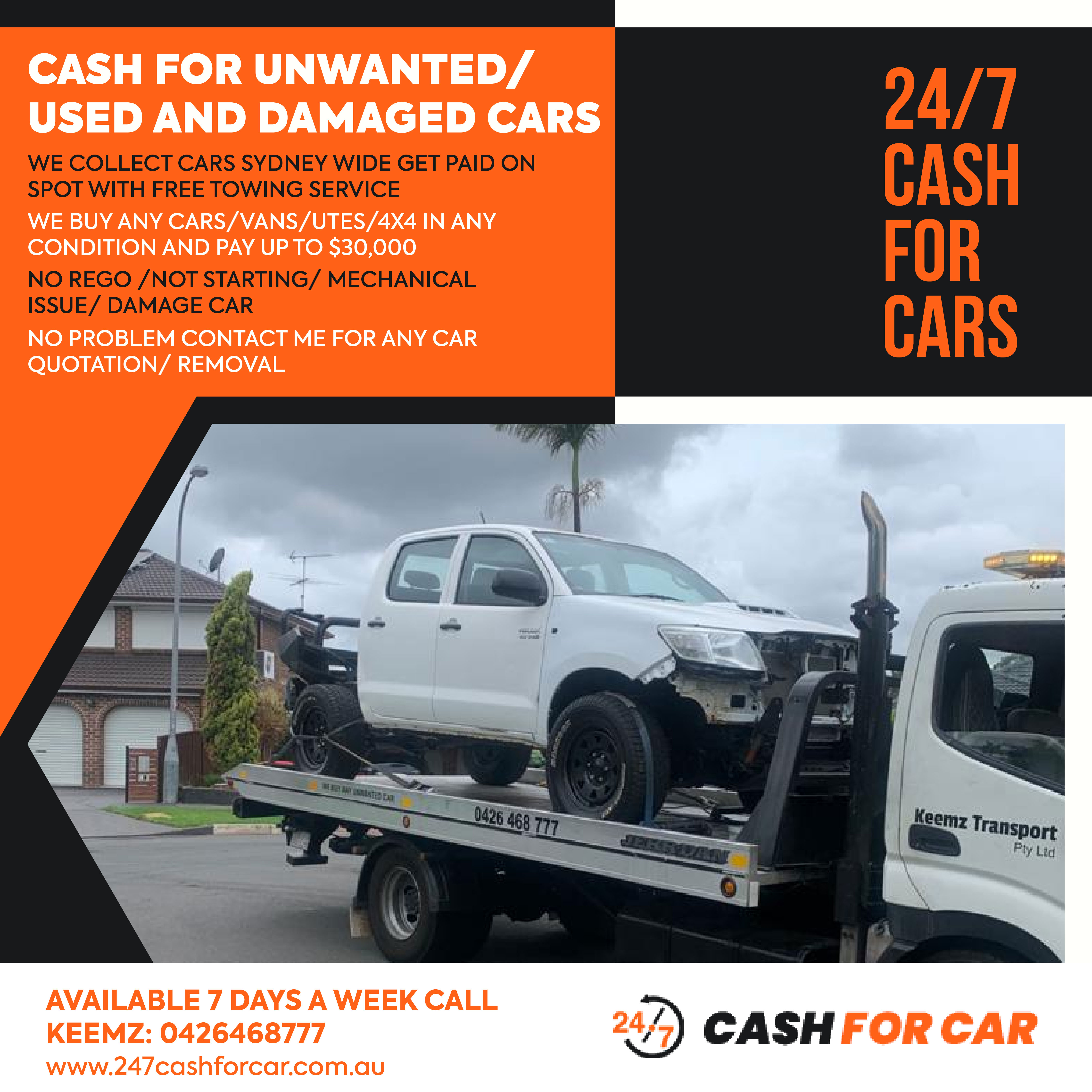 Car removal cash for cars